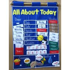 All About Today Fabric Wall Chart Rainbow Educational