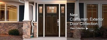 craftsman style exterior doors mission front fiberglass entry door