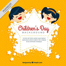 How To Make Children S Day Chart Yellow Background With Childrens Day Badge Stock Images