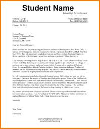 Cover Letter Samples For High School Students Valid Save Best New