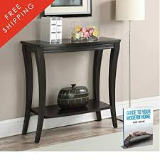 Hallway Console Table Narrow With Storage Shelf Wood Accent Foyer Decorative Elegant Living Room Entryway Contemporary