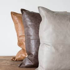 ray leather pillow