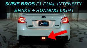 Wrx F1 Fog Light 2015 2020 Wrx Sti F1 Led Rear Fog Light Update Dual Intensity Plug And Play Harness Xv