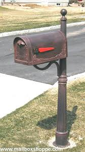 Aluminum mailbox post Ornate Aluminum Mailbox Post With Cast Leaf Double Tyres2c Aluminum Mailbox Post With Cast Leaf Double Languageblag