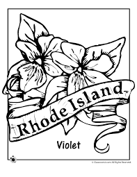 Small Picture State Flower Coloring Pages Rhode Island State Flower Coloring