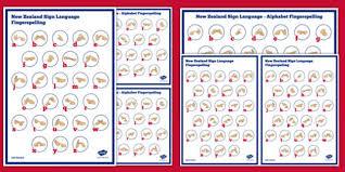 Free New Zealand Sign Language Alphabet Fingerspelling