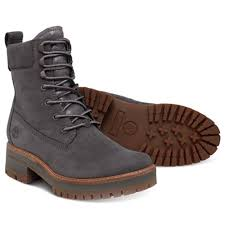 timberland courmayeur valley a1klv womens leather lace up boots dark grey