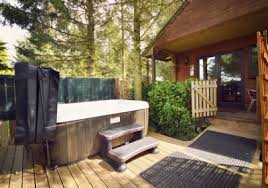 Beautiful Lodge with Hot Tub Break Oh guys these lovely lodges look like  a little piece of paradise relax in beautiful surroundings and a lovely  little