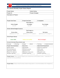 Weekly Progress Report Templates Project Weekly Status Report Templates At