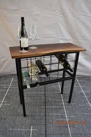 live edge walnut wine storage