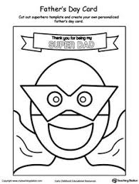 Small Picture Fathers Day Card You are My Superhero Worksheets Superhero