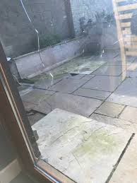 glass broken in back patio door old type glass was in door replaced with toughened safety glass