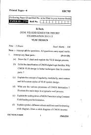 Vlsi Design Question Papers Vlsi Design Question Paper Uptu 2020 2021 Eduvark