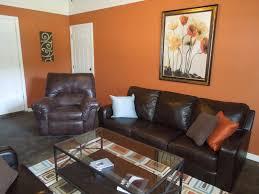 Pumpkin Spice Paint Living Room Accent Wall Paint Ideas Orange