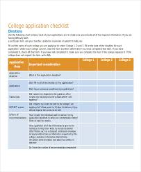 Sample College Checklist Simple 44 Examples Of Checklists In Word Doc Format