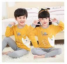 Sét bộ thu đông mặc ở nhà cho bé trai và bé gái từ 3 - 10 tuổi in hình ngộ  nghĩnh - Đồ bộ bé gái