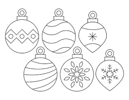 Print out set 1 for both round and teardrop ornaments if you want to draw your own designs. Printable Christmas Ornaments Coloring Pages And Templates