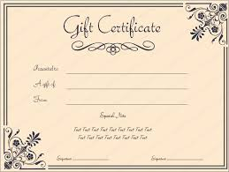 Make Your Own Gift Certificates Free Make Your Own Gift Certificate Sample Certificate For Free Gift And