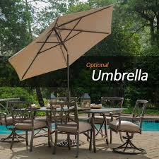 Outdoor Dining Sets For 8 Plastic Outdoor Table With Umbrella Hole