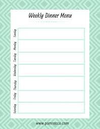Printable Weekly Dinner Menu 001 Weekly Dinner Menu Template Ideas Rare Food Word