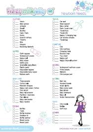 list of items needed for baby newborn checklist