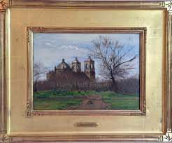 thomas allen s painting of mission concepcion in san antonio texas from 1879