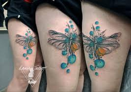 Tetování Vodovka V Bublině Vážka Tetování Tattoo