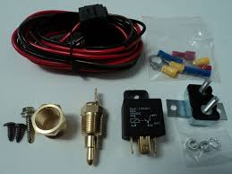 electric fan relay electric fan wiring install kit complete thermostat 50 amp relay 185° sbc bbc