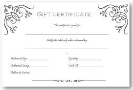 Certificates Stylish Free Customizable Gift Certificate