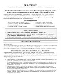 Coo Resume Template Chief Operating Officer Resume 1
