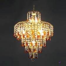 fountain amber crystal teardrops and clear crystal beads waterfall chandelier takeluckhome com