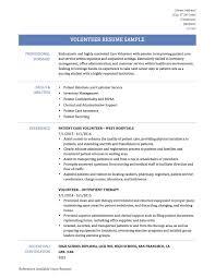 Adding Volunteer Work To Resume Examples Resume Sample For Volunteer Work Targergolden Dragonco Volunteer 14