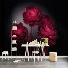 Beibehang 3D wallpaper romantic red ...