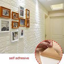 10 Pack 3D Brick Wallpaper, DIY Wall ...