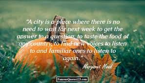 city life quotes famous lifestyle quotations sayings a city is a place where there is no need to wait for next week to get the answer to a question to taste the food of any country