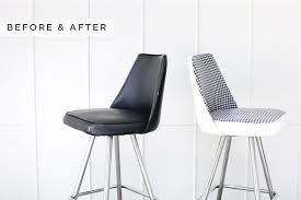 Upcycle an old vinyl chair with this easy tutorial from abeautifulmess.com  | Upcycle with JOANN | Pinterest | Upcycle, Chair makeover and Tutorials
