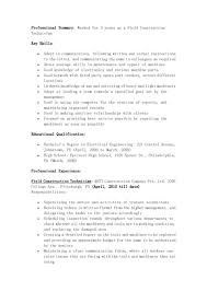 perfect field construction technician resume example years fullsize by barry glen perfect field construction technician resume