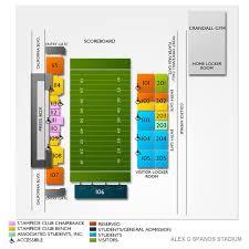 Spanos Theater Seating Chart Alex G Spanos Stadium 2019 Seating Chart