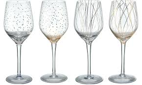 mikasa cheers wine or champagne glass set 4 piece