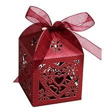 50pcs Love Heart Laser Cut Gift Candy Boxes ... - Amazon.com