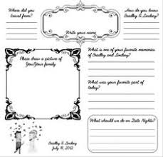 guest book template free fun wedding bridal shower and rehearsal dinner guestbook products