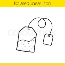tea bag drawing. Plain Drawing Tea Bag Linear Icon Thin Line Illustration Ceylon Tea Leaves Contour  Symbol Vector Isolated Outline Drawing  Stock Colourbox Inside Bag Drawing E