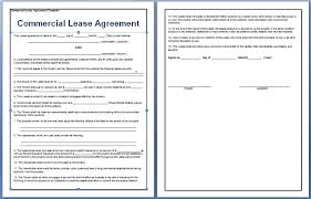 Commercial Lease Agreement Sample Amazing Business Lease Agreement Template Free Image Collections Business