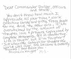 thank you letter to police officers examples thank you letter  michelle knight s heartfelt note to cleveland police and other thank you letter to police officers examples