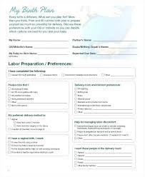 Nhs Birth Plan Home Birth Plan Template