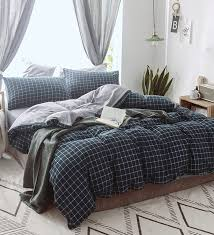 fashion geometric check print black and white double comforter by rago