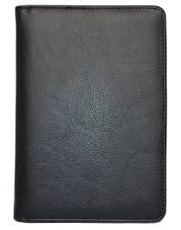 black faux leather classic journal cover