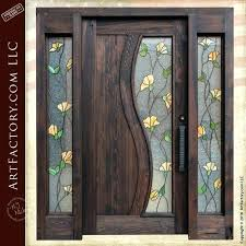 entry doors with sidelights atlanta custom front door tulip stained glass custom entry door with sidelights