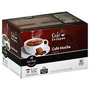 cafe escapes keurig hot cafe mocha single serve coffee k cups coffee at h e b