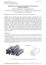 Determination of the Fatigue Properties of <b>Aluminum Alloy</b> Using ...
